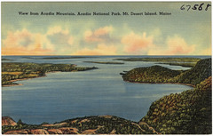 View from Acadia Mountain, Acadia National Park,  Mt. Desert Island, Maine