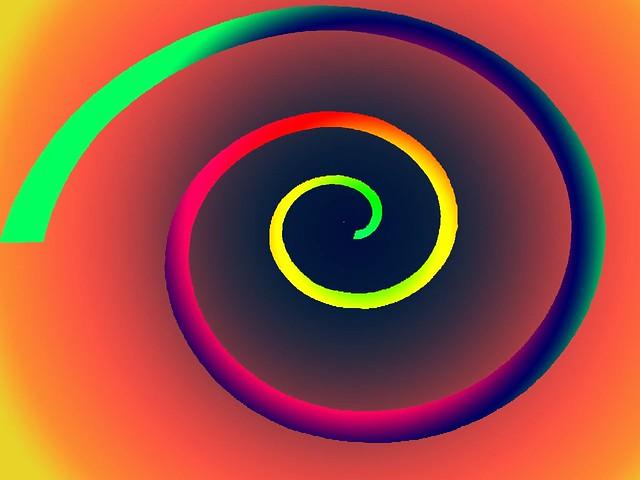 Rainbow spiral  3