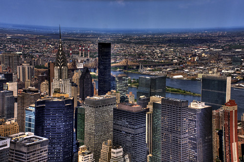 View of Chrysler Building From the Top of Empire State Building, New York