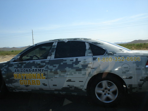 National Guard car wrap