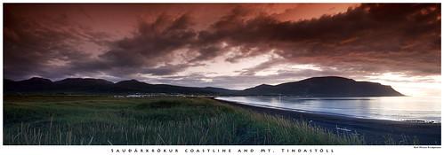 sunset sea panorama grass sand nightshot filters cokin saudarkrokur sauðárkrókur tindastóll tindastoll