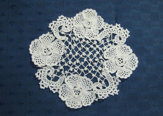 Irish Doilies Crochet Free Patterns : Irish Crochet - Clones doily My work, from a pattern in ...
