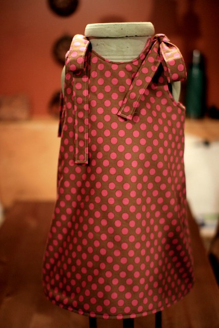 Fleece Line Polka Dot Dress