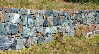 Beautiful wall of serpentine - near Salmon Creek, Big Sur