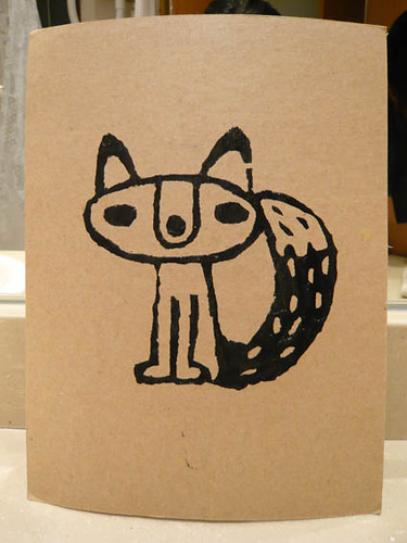fox screen print