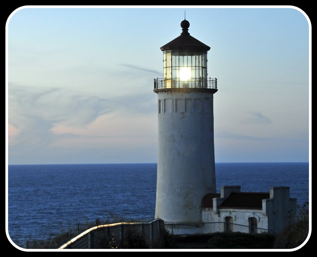 North Head Lighthouse at Twilight, SW Coast, Washington