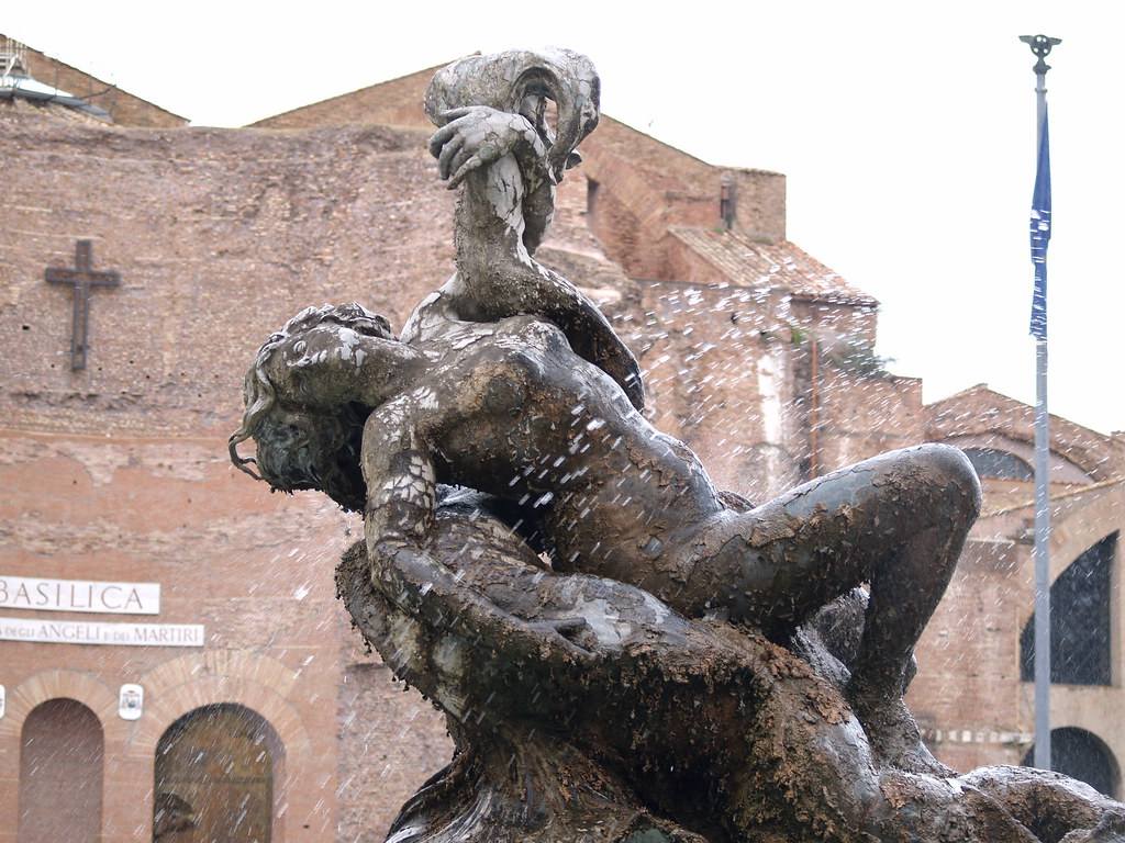 Fuente en Piazza Repubblica