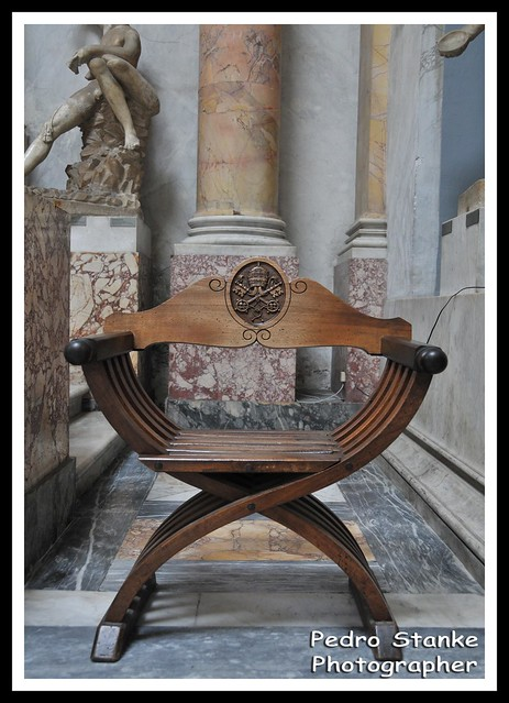 Vatican Museum - Chair of the Vatican - Rome, Italy