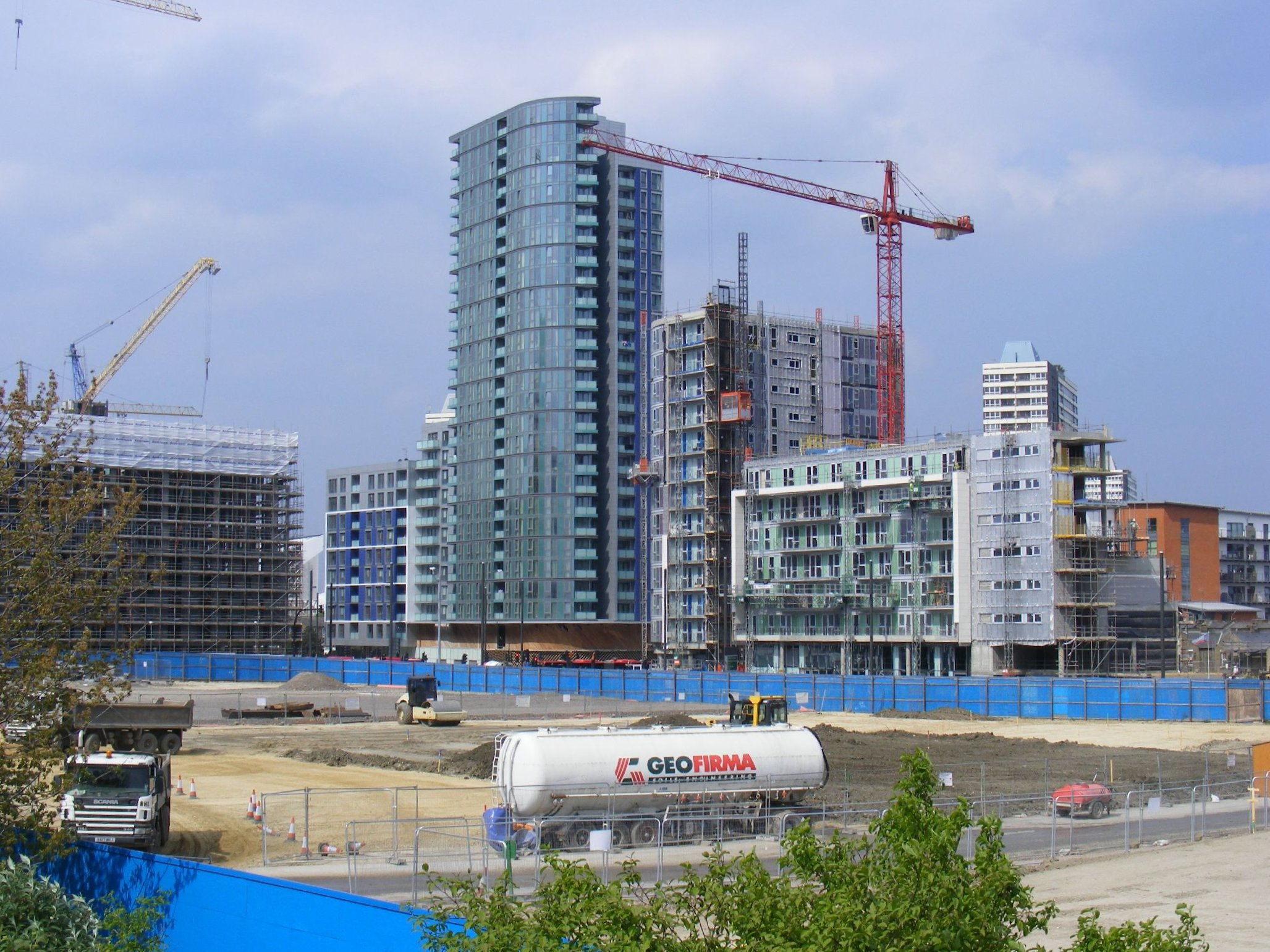 New construction at Stratford High Street, London East End, in advance of 2012 Olympics. Photo taken sludgegulper, CC BY-SA 2.0
