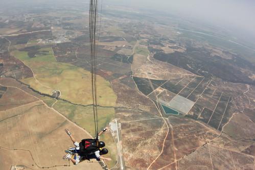 A skydive over Seville, Spain.