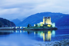 scotland lluminated castle by LetsGoBooks