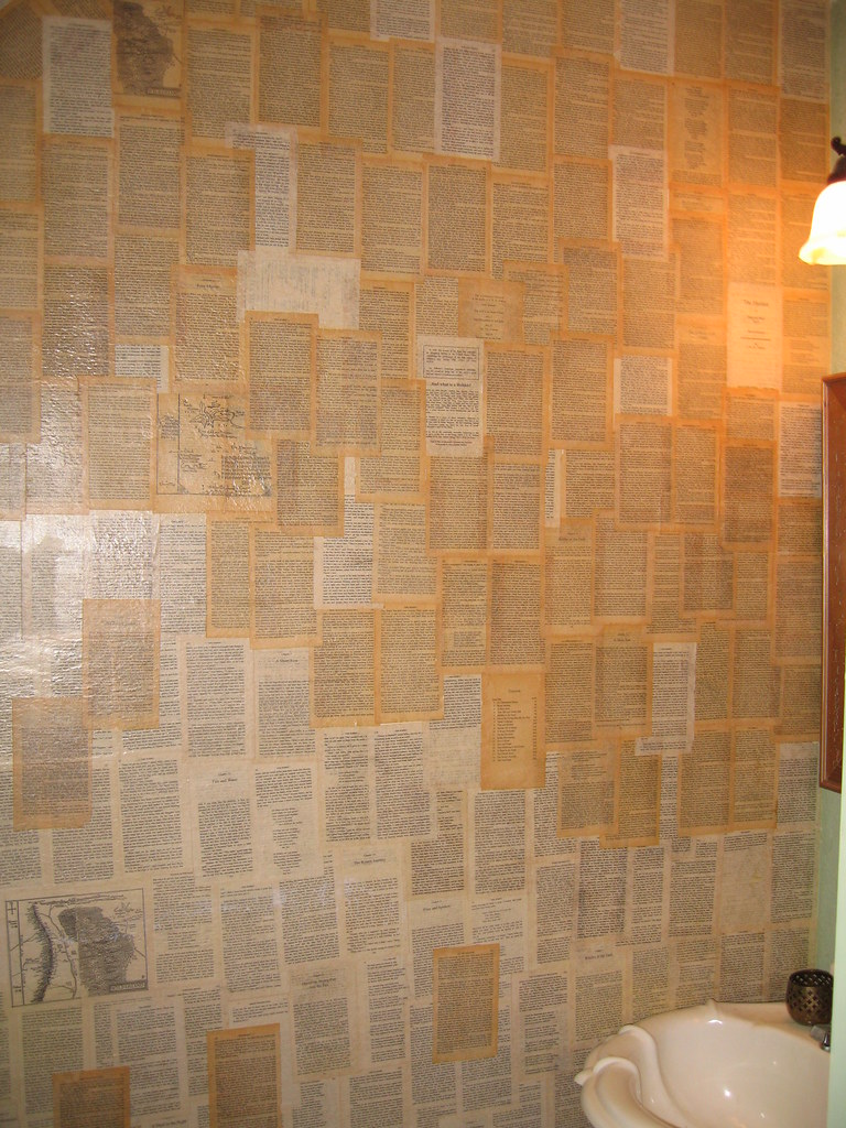 Book pages a distinctive wallpaper literary livewire for Book wallpaper for walls