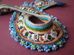 Lilium Speciosum Freeform Crochet Necklace