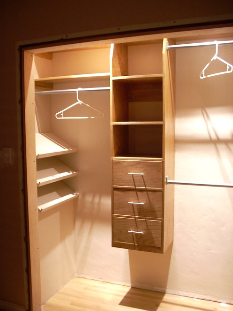 Closet remodel | Main unit was built from a single sheet ...