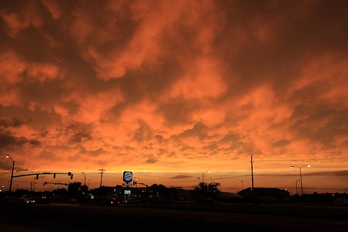 Mammatus @ sunset - Mason City, Iowa