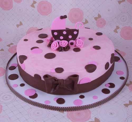 pink brown baby shower cake flickr photo sharing