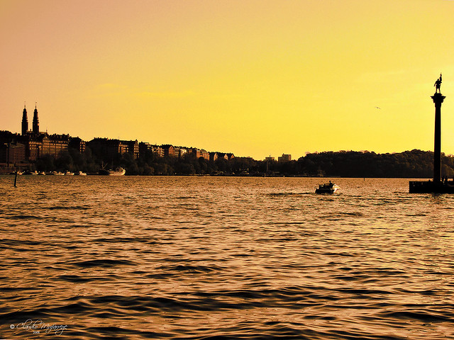 Stockholm, Sweden 050 - Lake Mälaren sunset