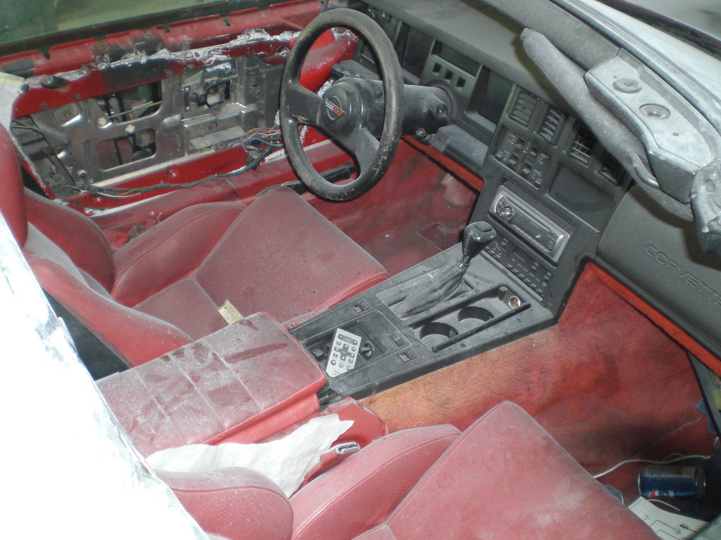 corvette interior at the body shop for paint  | july 7th, 20