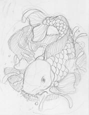 Fish Drawing on Koi Fish Tattoo Designs   Concept 9   Flickr   Photo Sharing