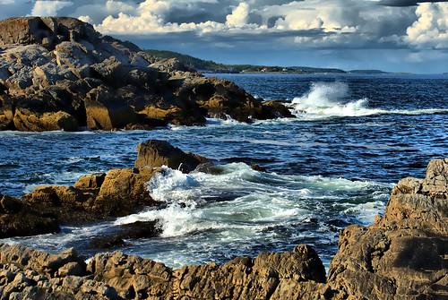 ocean seascape nature water portland landscape coast scenery maine rocky portlandmaine portlandme capeelizabeth cascobay oceanscape absolutelystunningscapes