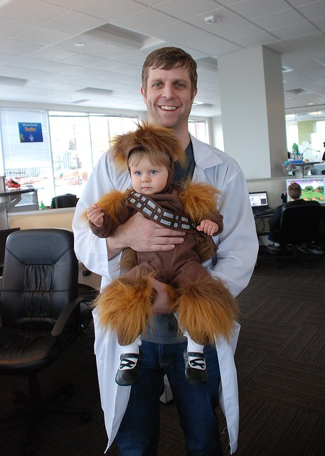 Baby Wookiee Chewbacca! And Pat!
