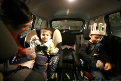 strapping into the minivan for the second leg of our…