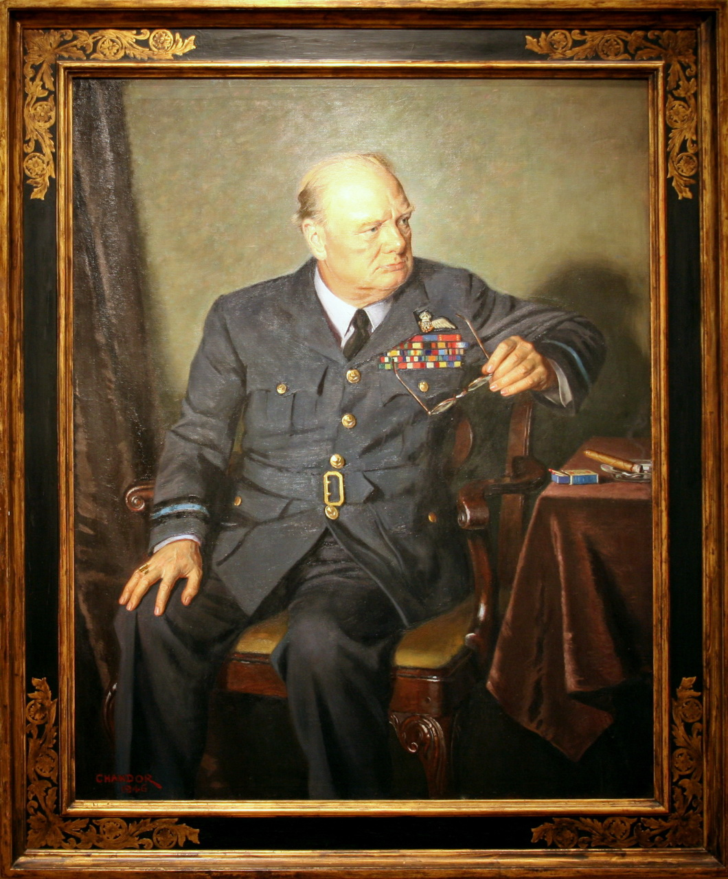 sir winston churchill by olivia hipp