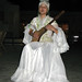 Osh: Kyrgyz singer in traditional dress
