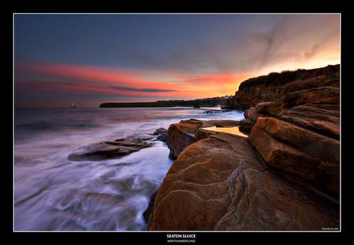 sunset sea coast rocks north east northumberland northumbria coastline hdr sluice seaton photomatix sigma1020 samsunggx20 northumberlandlandscapesgeotagged cffaa