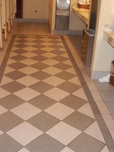 Yacht Club convention Hall Restroom - floor tile detail