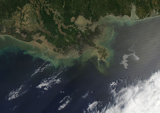 Oil Leak from Damaged Well in Gulf of Mexico April 25th View