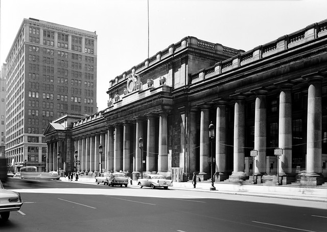 1962 New York City Penn Station 7th Ave Street Scene