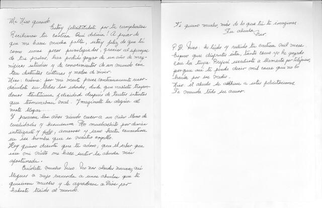 una carta para mi abuela