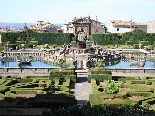panoramica giardino all'italiana a Villa Lante