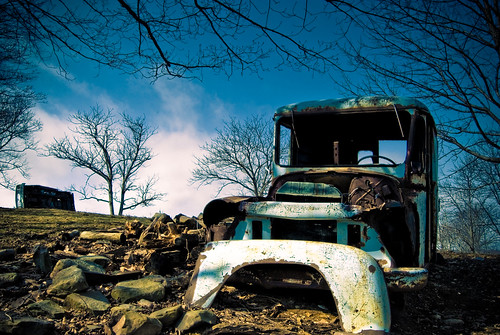 old slr car truck landscape outside outdoors spring nikon grunge nb fredericton newbrunswick filter rusted weathered nikkor wreck graduated milktruck cokin 10mp nd8 pseries 1855mmf3556 d80 nbphoto p121s 18mm55mm f35f56 cshot gradualneutraldensity minoredits