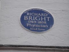 Photo of Richard Bright blue plaque