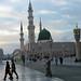 Small photo of Madinah Haram at sunset