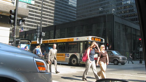 Downtown Chicago during a hot afternoon rush hour. Chicago Illinois. June 2008. by Eddie from Chicago