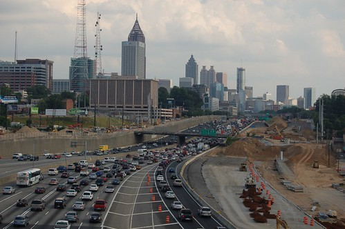 Traffic Jam in Atlanta, Georgia