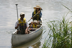 fishing(0.0), fisherman(0.0), canoe(1.0), water(1.0), vehicle(1.0), watercraft rowing(1.0), boating(1.0), watercraft(1.0), boat(1.0),