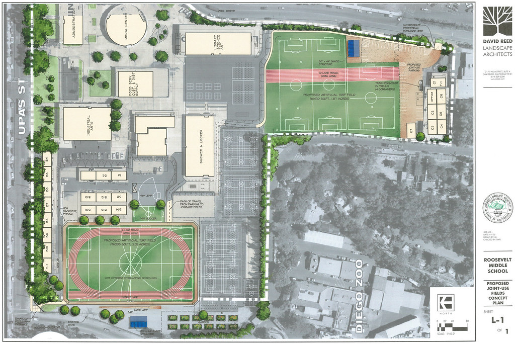David Reed Landscape Architects u00bb Blog Archive u00bb Roosevelt Middle School Proposed Joint Use ...