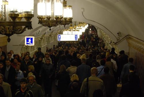Вмосковском метро запустили поезд срепродукциями картин русской живописи