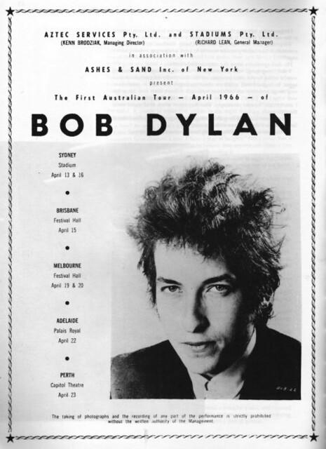 Bob Dylan, Australia Poster 1966