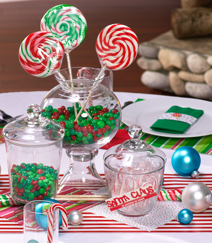 Christmas Candy Centerpiece HWTM Holiday Theme Christmas Candy
