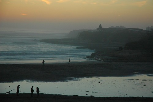 End of a Warm Day with Distant Surfer, Santa Cruz, California, USA by Wonderlane