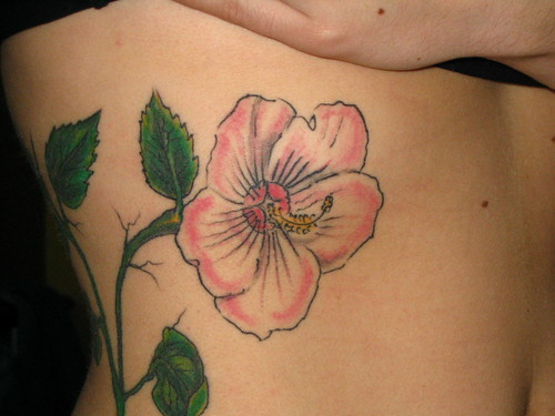 Hibiscus Flower Tattoo Designs for Women