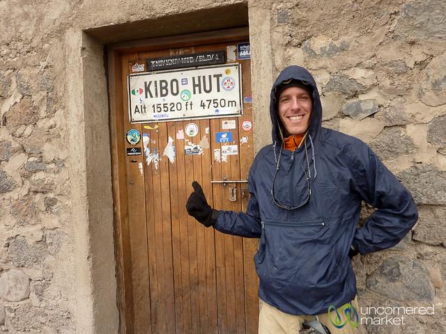 Dan at Kibo Hut - Mt. Kilimanjaro, Tanzania