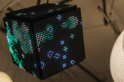 Trammell's LED matrix cube.