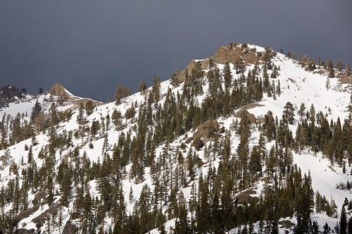 snow mountains landscape squawvalley