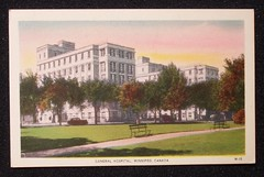 Winnipeg General Hospital 20s Postcard
